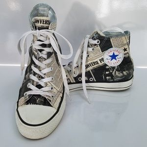 Converse Limited Edition Newspaper Print high top